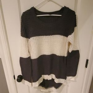 Rue 21 waffle high-low sweater